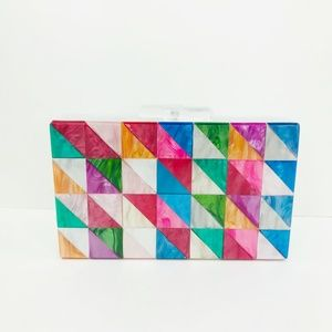 Acrylic Party Box in Triangle Multicolor